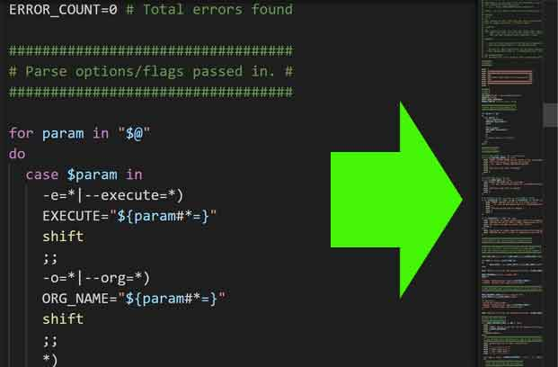 vscode minimap (file preview floating pane)